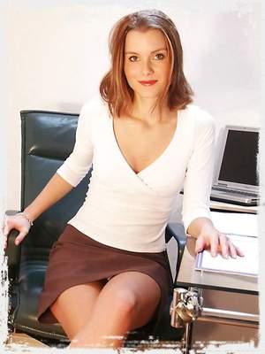 Sexy Secretary Stripping