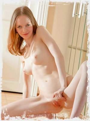 Skinny nymph posing