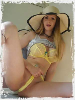 In the words of the famous song 'You Can Leave Your Hat On'... join Stella Cox choosing a new sun hat – then trying it on as only Stella would... in her sexy lingerie and less!Check back soon for the movie!